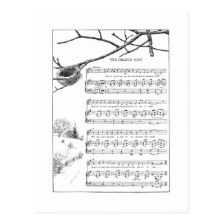 Song for Abandoned Nest in Fall Postcard