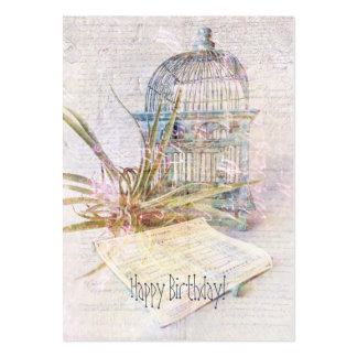 Song for Freedom Gift Tag Large Business Card