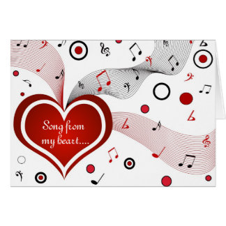 Song from my heart - Card