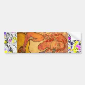 song girl drip painting bumper sticker