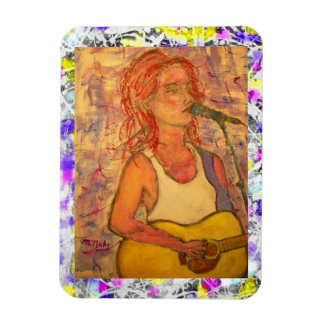 song girl drip painting magnet