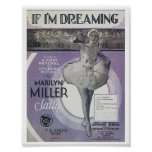 Song If I'm Dreaming Vintage Music Sheet Cover Poster