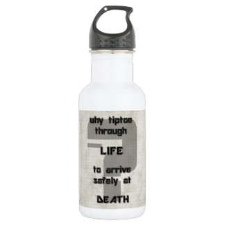 song lyric why tiptoe through life stainless steel water bottle