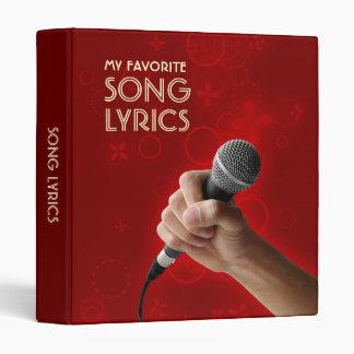 Song Lyrics Singer binder