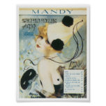 Song Mandy Vintage Music Sheet Cover Poster