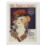Song My Baby's Arms Vintage Music Sheet Cover Poster
