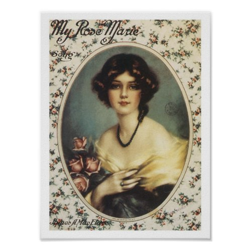 Song My Rose Marie Vintage Music Sheet Cover