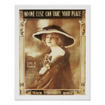 Song No One Else Vintage Music Sheet Cover Poster
