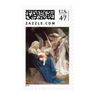 Song of Angels, William-Adolphe Bouguere Christmas Postage Stamp