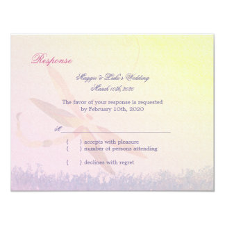 Song of Dragonfly Lyrical Wedding RSVP Card