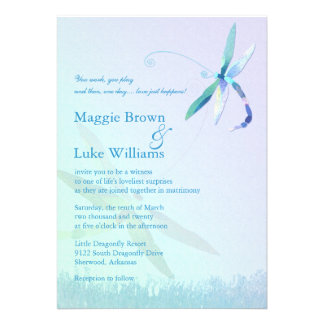 Song of Dragonfly Whimsical Formal Wedding Invites