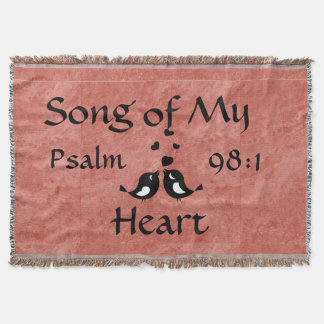 Song of My Heart Rose Toned Blanket