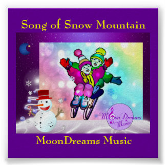 """Song of Snow Mountain 4.0"""" X 4.0"""" Poster"""