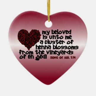 Song of Solomon 1:14 Ceramic Ornament