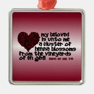 Song of Solomon 1:14 Metal Ornament