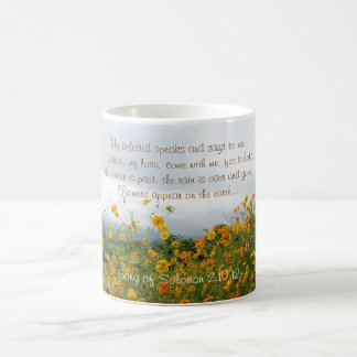 Song of Solomon 2:10-12, Bible Verse, Flowers Coffee Mug