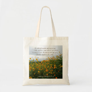 Song of Solomon 2:10-12, Bible Verse, Flowers Tote Bag