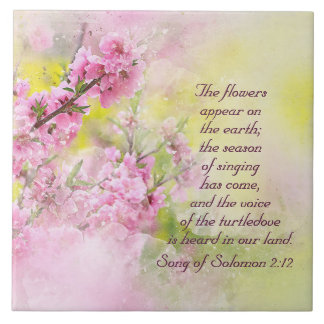 Song of Solomon 2:12 Flowers appear on the earth Tile