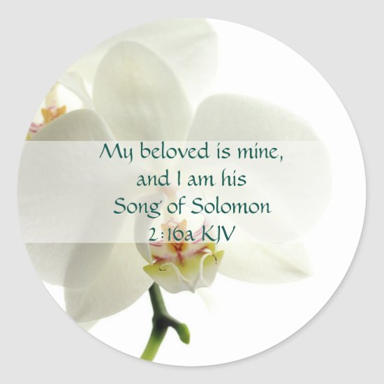 Song of Solomon 2:16a My beloved is mine. Classic Round Sticker