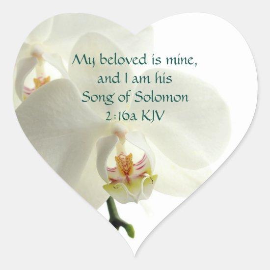 Song of Solomon 2:16a My beloved is mine. Heart Sticker