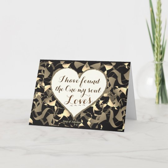 Song Of Solomon 3 4 Bible Verse Heart Custom Thank You Card