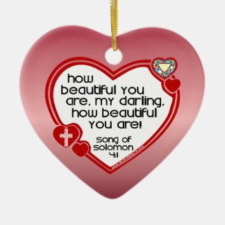 Song of Solomon 4:1 Ceramic Ornament