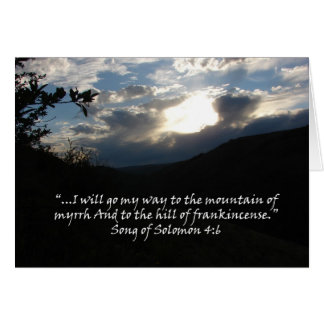 """""""Song of Solomon 4:6""""  by Carter L. Shepard Greeting Card"""