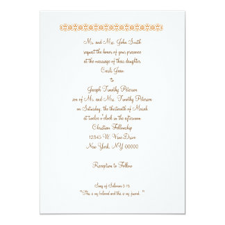 """Song of Solomon 5:16 """"This is my beloved and th... 5x7 Paper Invitation Card"""