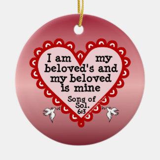 Song of Solomon 6:3 Ceramic Ornament