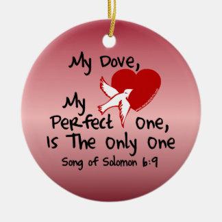 Song of Solomon 6:9 Ceramic Ornament