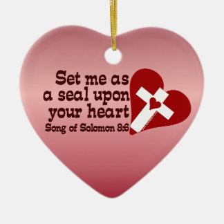 Song of Solomon 8:6 Ceramic Ornament