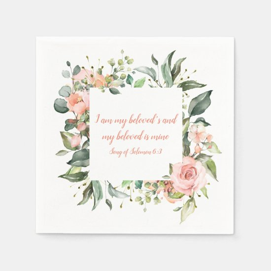 Song of Solomon My Beloved Wedding Napkins