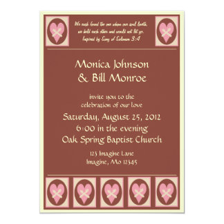 "Song of Solomon Wedding Invitation 5"" X 7"" Invitation Card"