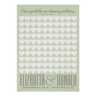 Song of Solomon Wedding Poster - CHOOSE YOUR COLOR