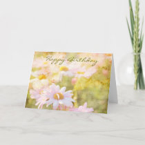Song of Spring I - Lovely Pale Pink Daisies Asters Card