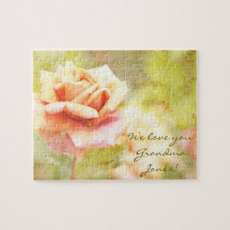 Song of Spring II - Lovely Pale Orange Rose Puzzles