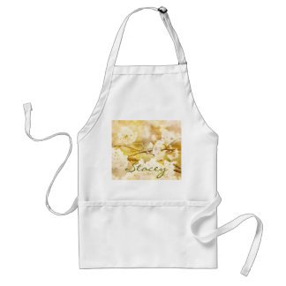 Song of Spring III - Lovely White Cherry Blossoms Adult Apron