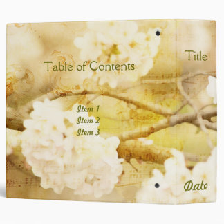 Song of Spring III - Lovely White Cherry Blossoms Binder