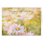 Song of Spring Lovely Pale Pink Daisies Asters Card