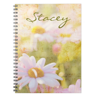 Song of Spring Lovely Pale Pink Daisies Asters Notebook