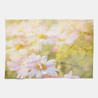 Song of Spring Lovely Pale Pink Daisies Asters Towel