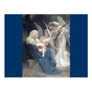 Song of the angels antique painting baby religion postcard