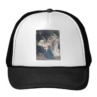 Song of the angels antique painting baby religion trucker hat