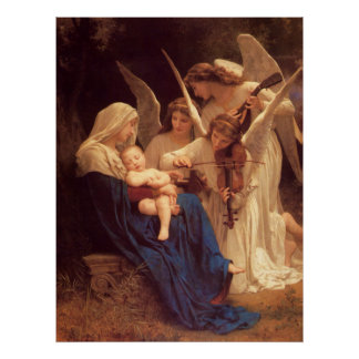 Song of the Angels by Bouguereau Poster