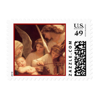 Song of the Angels by Bouguereau Stamp