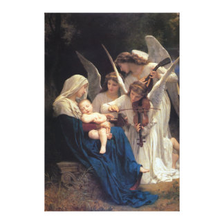 Song of the Angels by William Adolphe Bouguereau Canvas Print