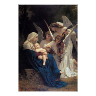 Song of the Angels by William Adolphe Bouguereau Poster