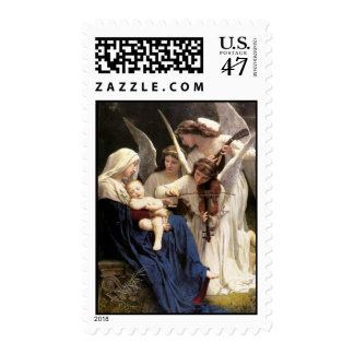 Song of the Angels Christmas Postage Stamp