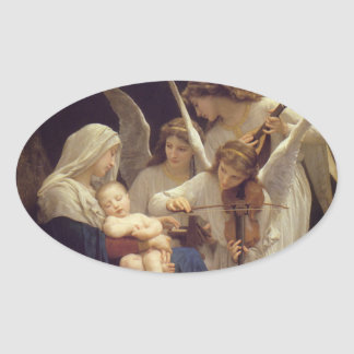 Song of the Angels Oval Sticker