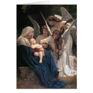 Song of the Angels Vintage Christmas Greeting Card